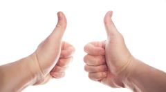 Thumbs up - stock footage