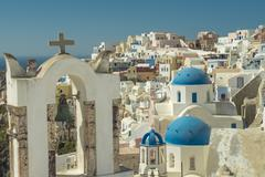 oia, santorini, greece. - stock photo