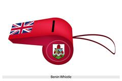 A beautiful red whistle of bermuda flag Stock Illustration