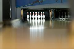 Ten pin bowling shoot Stock Photos