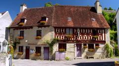 Old buildings (1) - Semur-en-Auxois France Stock Footage