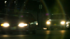 Traffic at night on the street in Los Angeles - stock footage