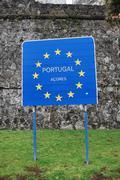 Azores, Portugal Sign Stock Photos