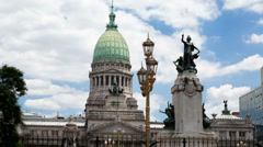 Stock Video Footage of Argentina Buenos Aires Palacio Del Congreso Time Lapse