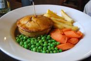 Stock Photo of Meat Pie in a Pub London, England