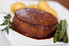 Juicy beef steak  - stock photo