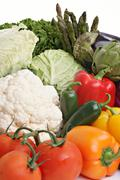 Assorted Vegetables - Healthy food - stock photo