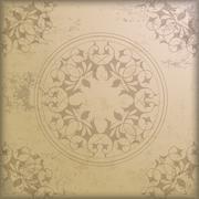 vintage background floriad ring ornaments - stock illustration