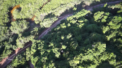 Trancoso Chuch Plongee Aerial 16 Stock Footage