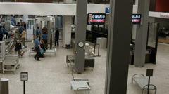 Airport TSA security check point entrance HD 1942 Stock Footage