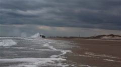 U.S. Navy landing craft, air cushion Landing at Onslow Beach - stock footage