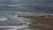 Stock Video Footage of U.S. Navy landing craft, air cushion Landing at Onslow Beach