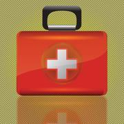 red aid box - stock photo