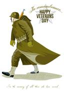 World war two veterans day greeting card. Stock Illustration