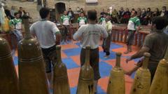 Zurkhaneh workout session, dance, fitness, sport, activity, Iran Stock Footage