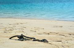 Cord at beach Stock Photos