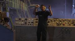 Gestures. Man at work Stock Footage