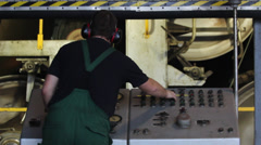 Working at control board Stock Footage