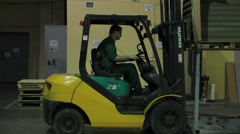 Lift truck yellow Stock Footage