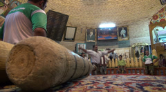 Zurkhaneh session, traditional sport in Iran Stock Footage