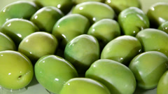 Mediterranean olives rotating close up Stock Footage