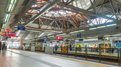 Timelapse train kl sentral 2 Stock Footage