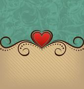 Valentine's day retro elegance background Stock Illustration