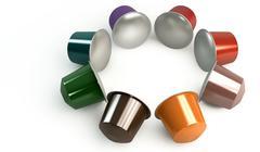 espresso coffee capsules - stock illustration