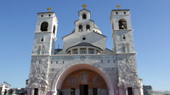 Temple in Podgorica, EDITORIAL Stock Footage