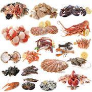 Seafood and shellfish Stock Photos
