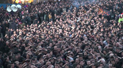 Massive crowds in Iran celebrate Ashura, an important event in Shia Islam Stock Footage