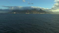 Panoramic view of the Cape Town peninsula an Atlantic Ocean.. Stock Footage