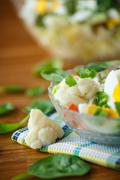 summer diet salad with cauliflower - stock photo