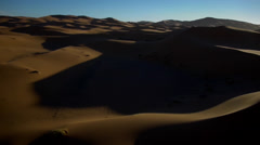 View of sand dune in Morocco Stock Footage