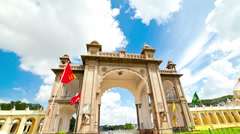 Mysore. The main palace complex. time-lapse - stock footage