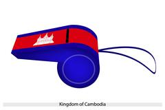 Red and blue colors on cambodia whistle Stock Illustration