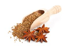 Aniseed and star anise Stock Photos