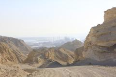 Dead Sea Industries and Minerals Activities - stock photo