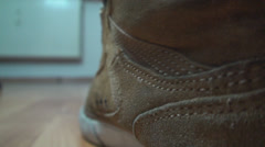 Detail Of Feet Tapping Into The Rhythm Of The Music Back-Shot Stock Footage