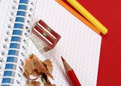 Pencil and agenda Stock Photos