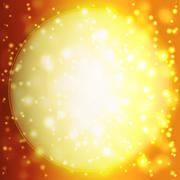 Abstract background with orange sun rays Stock Illustration