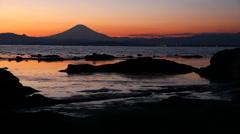 Mount fuji view from Enoshima island - stock footage