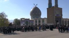 Iran Ashura shrine religion muslims Islam Muharram Stock Footage