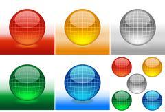 Glossy Grid Spheres Stock Illustration
