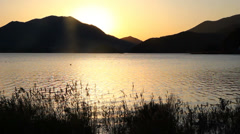 Lake Kawaguchiko - stock footage