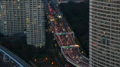 Busy highway in Tokyo, Japan Stock Footage