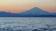 Stock Video Footage of Mount Fuji view from Enoshima island.