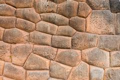 Stone wall chincheros town peruvian andes  cuzco peru Stock Photos