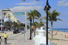 bayshore drive at state road a1a - stock photo