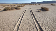Stock Video Footage of dry lake tracks drought famine global warming